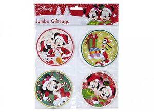 Disney Mickey & Minnie Jumbo Xmas Christmas Gift Tags 8 Pack