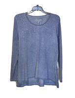 SOFT SURROUNDINGS Tunic Top Size Medium Long Sleeve Knit Pullover