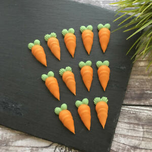 12 X Edible Carrot Cake Decorations For Cakes & Cupcakes | Sugar Toppers
