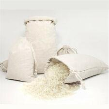 10pcs Cotton Plain Drawstring Bags - Xmas Sack Stocking - Storage Laundry Bag