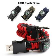 Compass Braided Rope Bracelet USB Flash Drive Portable Pendrive 16GB 32GB 64GB