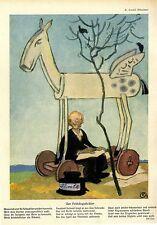 Karl Arnold / Eff Ess, München Der Frühlingsdichter Historischer Kunstdruck 1914