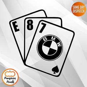 BMW E87 1 SERIES Vinyl Car Sticker Side Window Decal 1er CARDS BABY BWM