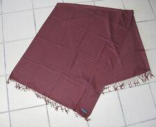 Hamilton Watch Pashmina Aubergine wrap scarf Burgundy color advertisement