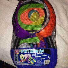 Lil Player 5 In 1 Game Set For The Yard Sports Badminton Horse Shoe Sky Catch G7