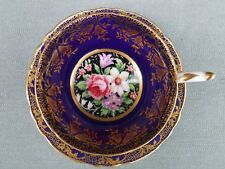 Paragon Tapestry Floral Bouquet Cup & Saucer Cobalt Gold