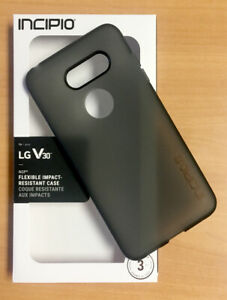 LG V30 Case NGP Flexible Impact Resistant Case Incipio Smokey Black