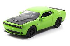 1:24 GREEN w BLACK 2015 DODGE CHALLENGER SRT HELLCAT JADA  DIE-CAST CAR