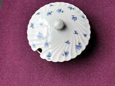 Haviland Limoges Dose mit Deckel 13 cm Ø  blaue Blüten
