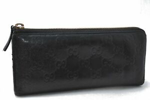 Authentic GUCCI Guccissima Leather Wallet Black B2276
