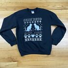 Christmas Cat Ugly Christmas Sweater Crewneck Sweater Women's Small