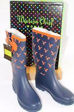 Western Chief Women's Rain Boots Size 6 Eagle Pride 2 Auburn Football NIB Navy