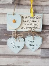 Childminder personalised gift, thank you gift, wooden sign, plaque new