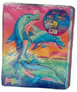 Lisa Frank Binder Bundle 30th Birthday   School Supplies Folder Notebook Dolphin