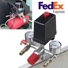 Safety Air Compressor Pressure Switch Control Valve Manifold Regulator Gauges