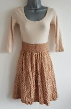 Size 6 Dress H&M Orange Cream Fitted Great Condition Women's Casual