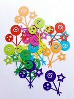Lollipop / Wand / Sparkler Die Cut Outs ( Scrap Booking, Party Decoration)