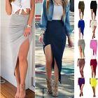 Lady Girl Wrap Draped Cut Out Hi Low Asymmetrical High Waist Open Maxi Skirt EN