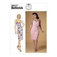 Retro sewing pattern, flapper dress, Twenties 20s style B6627, Gertie fringed