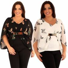 Butterfly V Neck Party Tops & Shirts for Women