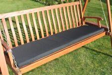 Garden Furniture Cushion- 3 Seater Swing Seat or Large Bench Cushion- Black