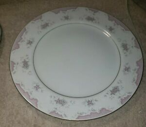 Mikasa Fine China Heirloom 9364 Pink & White Floral Serving Chop Platter Plate