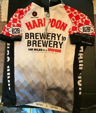 Rare 2011 Patimo Harpoon Brewery to Brewery 148 Miles Ride Cycling Jersey Large