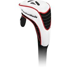 TaylorMade Universal Fairway Wood Headcover - White / Red & Black
