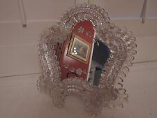 Gorgeous Italian Venetian Murano Glass Etched Mirror Ladies Vanity Dresser