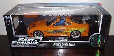 97505 1:18 Jada Toys Fast & Furioso Brian's Toyota Supra * Naranja * (MIB)