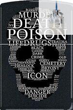 Zippo CM1312 Death Skull Of Words Lighter & Z-PLUS INSERT BUNDLE