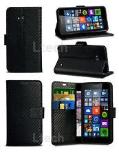 For Huawei y7 (2018) - Carbon Fiber Highlights wallet case