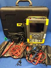 FLUKE 190-202 2Ch. 200MHz 2.5GS/s Color ScopeMeter Portable Oscilloscope