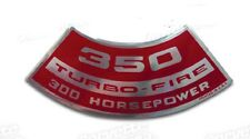 Chevrolet- Corvette-Chevy 350 Turbo-Fire 300 HP Air Cleaner Decal-
