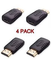4x Gold Plated HDMI Male to Mini HDMI Female Connector HD TV Converter Adaptor