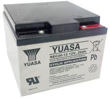 Batterie chario de golf cyclique  rechargeable YUASA REC26-12 12V 26AH