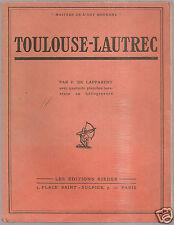 @£ TOULOUSE LAUTREC PAR P. DE LAPPARENT  DONT 40 PLANCHES HORS TEXTE