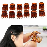 Plastic Mini Coffee Hairpin Claws Hair Clips Clamp Accessories For Women 12Pcs