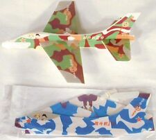 12 Camoflauge Flying Gliders toy toys gifts jets Airplanes New air plane jet