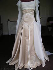 MADE TO MEASURE PAGAN GOTHIC WEDDING HANDFASTING DRESS GOLD OYSTER IVORY CREAM