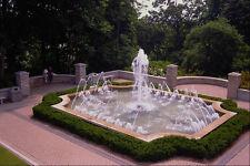 650040 Garden Fountain Casa Loma Toronto Ontario A4 Photo Print