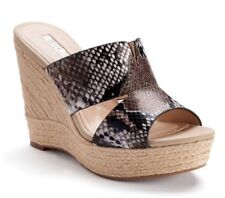NEW Womens Jennifer Lopez Suri Snake Print Espadrille Wedge Sandals Size 10