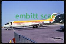 Original Slide, Air Jamaica Douglas DC-9-32 (6Y-JIJ) at Montego Bay, 1975