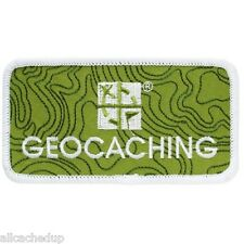 Geocaching Logo Patch - for Clothes or Bags - 2 inches x 4 inches easily removed