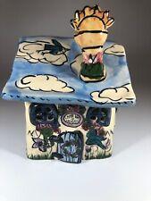 Blue Sky Clay Works Heather Goldminc Little Bit of Heaven Tea Light House