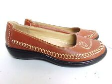 HUSH PUPPIES 6 WIDE RED LEATHER MOCSTITCHED LOAFERS $80