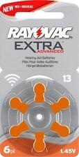 Rayovac tamaño 13 Extra Advanced Baterías Audífono libre de mercurio células x60