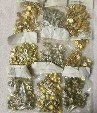 648 Vintage Gold Tone Metal Button Silver Color Size 24, Lot 8