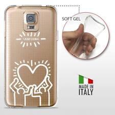 Galaxy S5 TPU CASE COVER GEL PROTETTIVA TRASPARENTE KEITH HARING