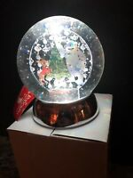 Disney Dept 56 Water Globe Rudolph Red Nosed Reindeer & Bumble Christmas Tree